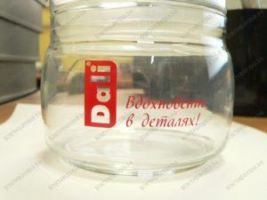 Тампопечать на стеклянной посуде