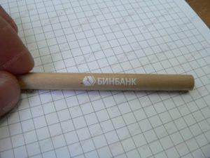 Тампопечать на карандаше