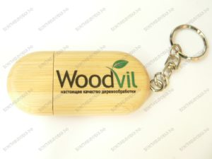 Тампопечать на деревянных флэшках
